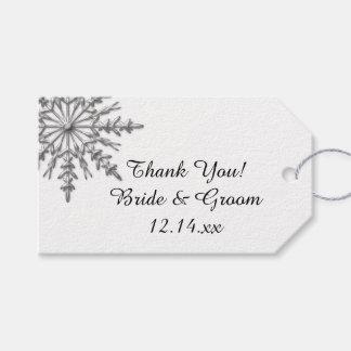 Falsas etiquetas de plata del favor del boda del etiquetas para regalos
