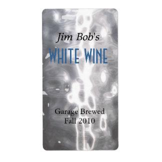 Falsas etiquetas hechas hogar martilladas del vino etiqueta de envío