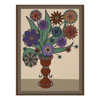 Falsas flores imponentes del remiendo fotografías