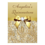 Falsas lentejuelas y arco Quinceañera del oro Anuncios Personalizados