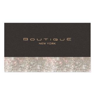 Falsas lentejuelas y boutique de la moda del ante tarjeta de visita