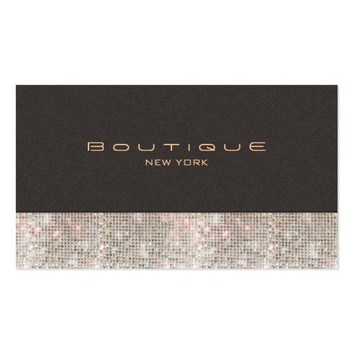 Falsas lentejuelas y boutique de la moda del ante tarjetas de visita