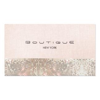 Falsas lentejuelas y boutique elegante rosado lind tarjetas de visita