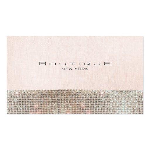 Falsas lentejuelas y boutique elegante rosado tarjetas de visita