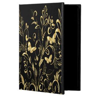 Falsas mariposas impresas elegantes del oro