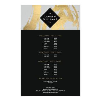"Falsas pinceladas abstractas de la hoja de oro en folleto 5.5"" x 8.5"""