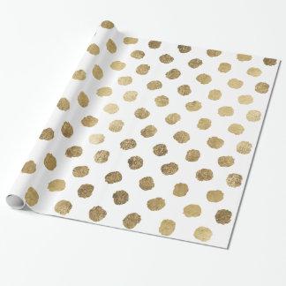 Falsas pinceladas elegantes de los lunares de la papel de regalo