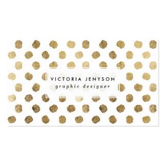 Falsas pinceladas elegantes de los lunares de la tarjetas de visita