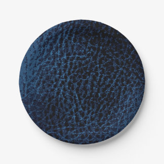 Falsas placas azules de medianoche plato de papel de 7 pulgadas