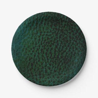 Falsas placas del Forest Green Plato De Papel De 7 Pulgadas