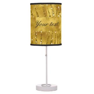 Falsas rayas atractivas de la cebra del brillo del lámpara de mesa