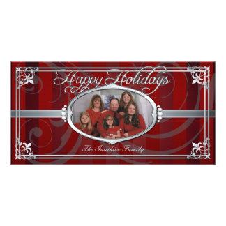 Falsas tarjetas de la foto de la joya de la plata tarjetas fotográficas personalizadas