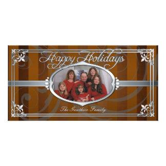 Falsas tarjetas de la foto de la joya de la plata tarjetas personales con fotos