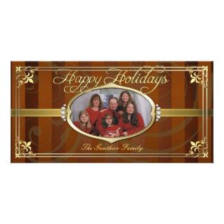 Falsas tarjetas de la foto de la joya del oro anar tarjetas fotográficas personalizadas