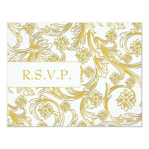 FALSAS tarjetas de papel del rsvp del boda del Comunicado