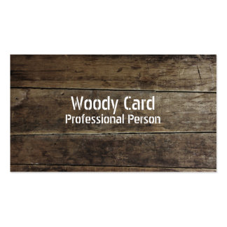 Falsas tarjetas de visita de madera