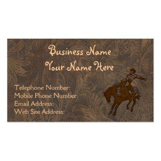 Falsas tarjetas de visita occidentales de cuero eq