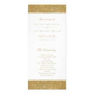 Falsas tarjetas del estante del programa del boda tarjeta publicitaria a todo color