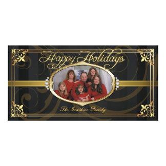 Falsas tarjetas Jeweled de la foto de la tela a ra Tarjetas Fotograficas Personalizadas
