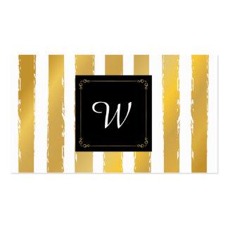 Falsas tiras de la hoja de oro con el marco tarjetas de visita
