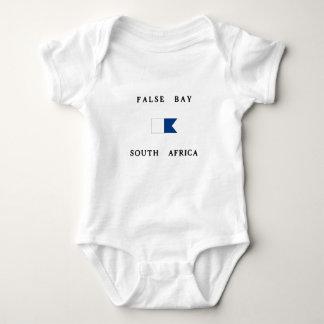False Bay South Africa Alpha Dive Flag Baby Bodysuit