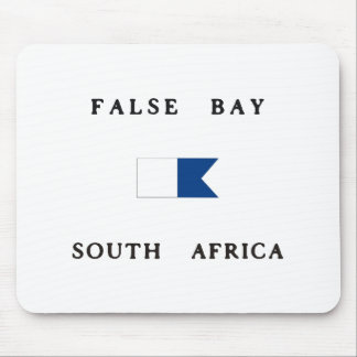 False Bay South Africa Alpha Dive Flag Mouse Pad