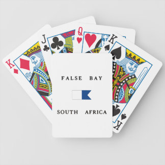 False Bay South Africa Alpha Dive Flag Bicycle Playing Cards
