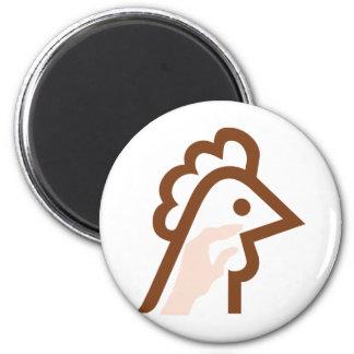 False Chicken_2 2 Inch Round Magnet