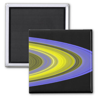 False-color image of Saturn's rings 2 Inch Square Magnet