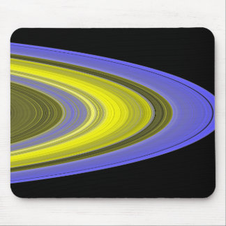 False-color image of Saturn's rings Mouse Pad