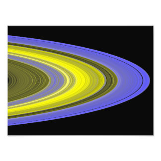 False-color image of Saturn's rings Photo Print