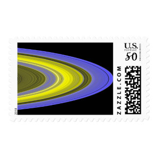 False-color image of Saturn's rings Postage