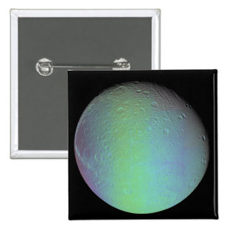 False color view of Saturn s moon Dione Pinback Buttons
