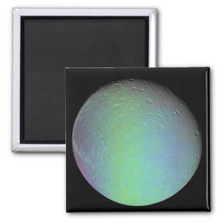 False color view of Saturn's moon Dione 2 Inch Square Magnet