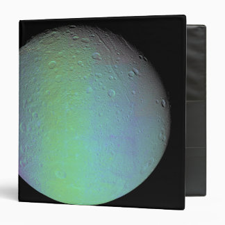 False color view of Saturn's moon Dione 3 Ring Binder
