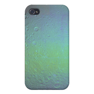 False color view of Saturn's moon Dione iPhone 4 Cases