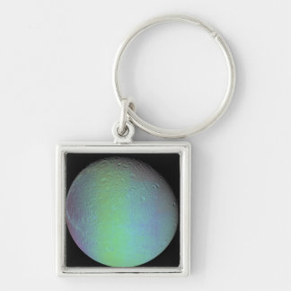 False color view of Saturn's moon Dione Keychain