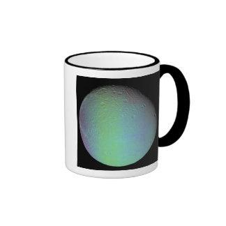 False color view of Saturn's moon Dione Ringer Mug