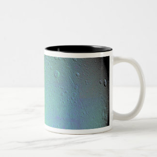 False color view of Saturn's moon Dione Two-Tone Coffee Mug