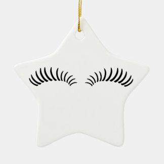 False Eye Lashes Ceramic Ornament