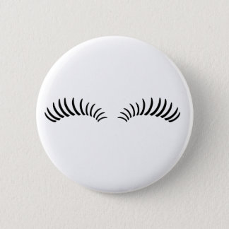 False Eye Lashes Pinback Button