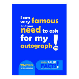 FALSE FACTS Famous Postcard