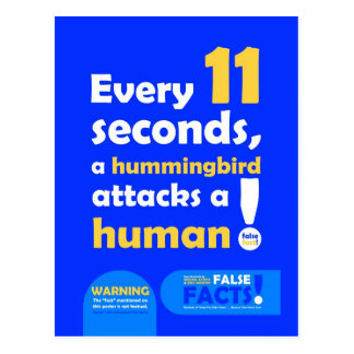 FALSE FACTS Hummingbird Postcard