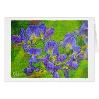 False Indigo/Floral Art/Watercolor Look