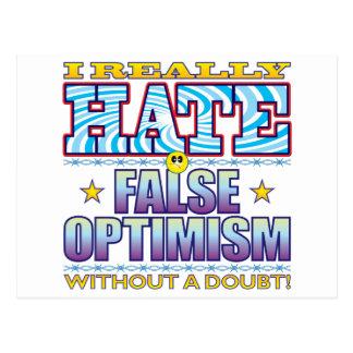False Optimism Hate Face Postcard
