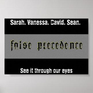 False Precedence Poster