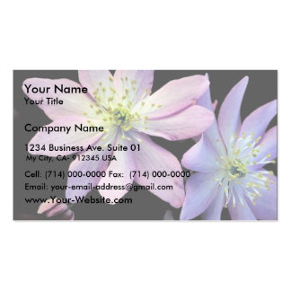 False Rue Anemone Double-Sided Standard Business Cards (Pack Of 100)