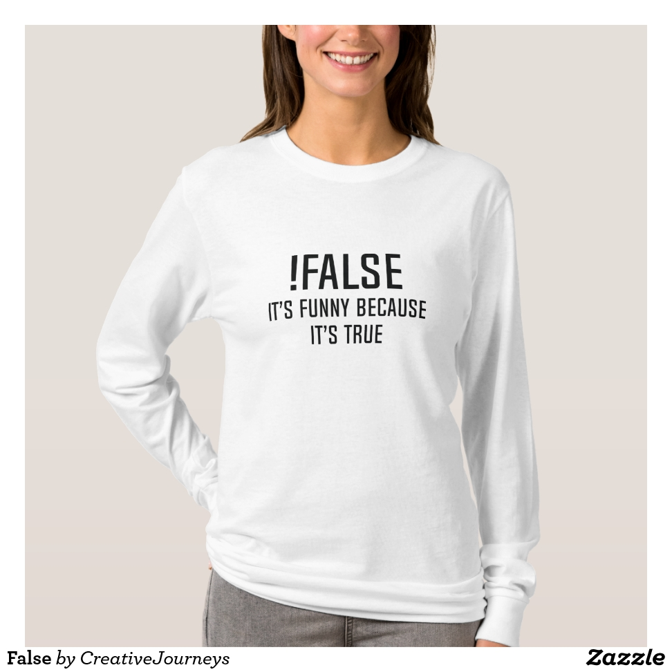 False T-Shirt - Best Selling Long-Sleeve Street Fashion Shirt Designs