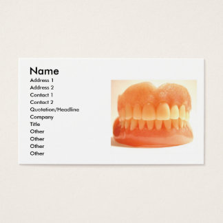 False Teeth Business Card