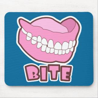 False Teeth Dentures Bite Mouse Pad